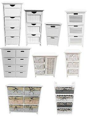 Assembled White Chest of Drawer Hallway Kids Bedside Table Storage Unit Cabinet