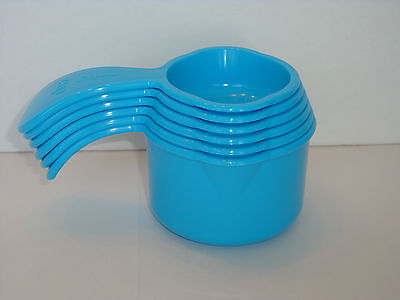 Tupperware Measure Measuring Cups Set of 6 - Taffy Blue- New in Package