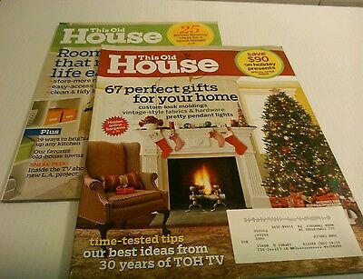 Lot of 2 This Old House Magazines~Storage Solutions~Tools~Kitchens English