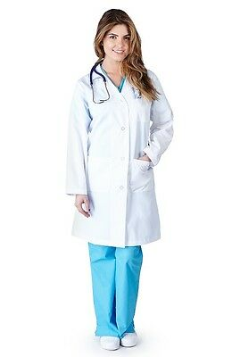 Medical White Unisex Long Lab Coats XS S M L XL 2XL 5XL Doctor Lab Coat 1516