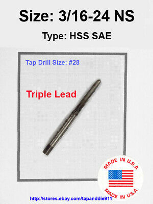 """1//8-60 NS 1//8/""""x60 Tap HSS Greenfield Morse Butterfield others sae std"""