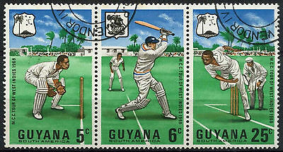 Guyana 1968 SG#445a West Indies Cricket Tour Cto Used Strip Set #A82789