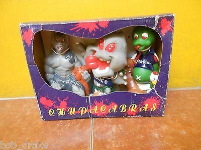 Very Rare CHUPACABRAS sci fi MONSTERS set of 3 ALIEN cool FIGURE toy CRYPTID UFO