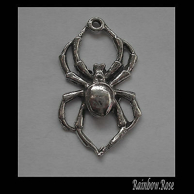 PEWTER CHARM #107 Spider (30mm long x 17mm wide) 1 bail