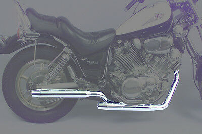 MAC 2:2 Staggered Dual Exhaust with Tapered Mufflers For Yamaha Chrome 004-0621