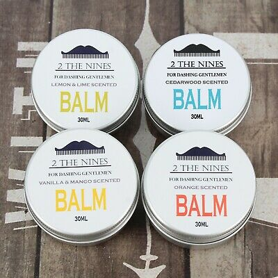 Beard Balm | 30ml Balm Tins | Soften and Condition | 4 Scents