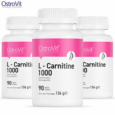 L-Carnitine 1000 90/180 Tablets Turn Fat Into Energy Weight Reduction Loss Diet