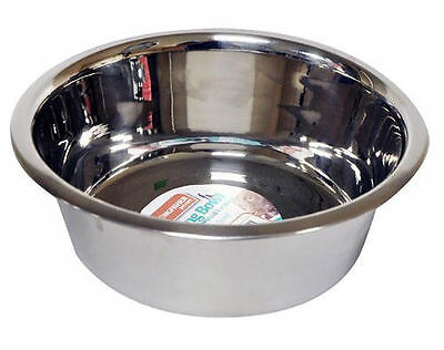 21cm Stainless Steel Cat Puppy Dog Pet 7cm Deep Bowl Dish Water Food Feeding