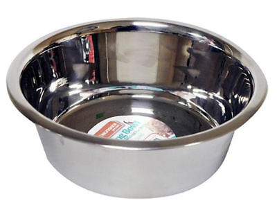 16cm Stainless Steel Cat Puppy Dog Pet 5cm Deep Bowl Dish Water Food Feeding