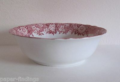 "Franciscan Homeland 9 1/4"" Serving Bowl Red Stafforshire Transfer Ware"