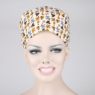 Doctors/Nurses Skull Cap Dogs Printing Scrub Cap Surgery Medical Surgical Hat