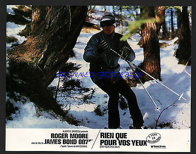 JAMES BOND FOR YOUR EYES ONLY ROGER MOORE IN ACTION ORIGINAL  FRENCH PHOTO