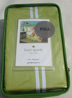 NWT Kate Spade Garden Grove Bright Chartreuse Full Bedskirt NEW IN PACKAGE