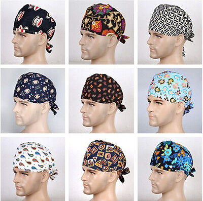 9 Kinds Men Doctor/Nurses Printing Scrub Cap Medical Surgical Surgery Hat/Cap