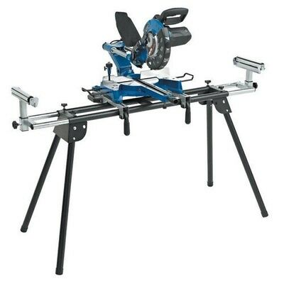 """Clarke 10"""" Sliding Compound Mitre Saw With Folding Stand. Electric Chop Saw"""