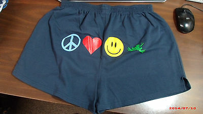 Peace Frogs Xxlarge Junior Cheer Shorts Navy Peace Love Laugh