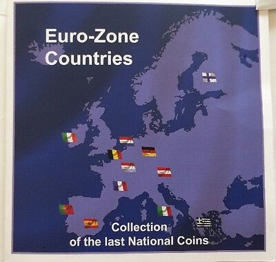 Euro-zone Countries Collection Of The Last National Coins.