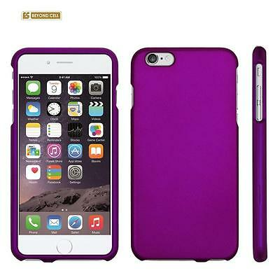 "for APPLE iPhone 6 PLUS 5.5"" PURPLE HARD SKIN COVER CASE +CLEAR SCREEN PROTECTOR"