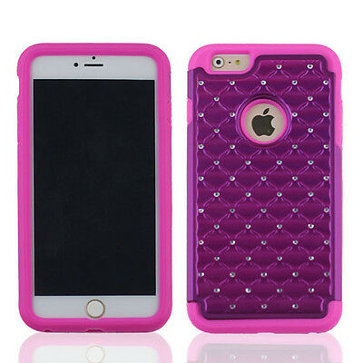 for APPLE iPhone 6 PLUS GRAPE PINK CLEAR DIAMOND ACCESSORY SKIN COVER CASE