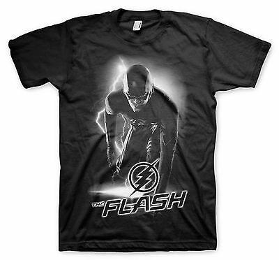 UNISEX Official Licensed DC COMICS CW THE FLASH Get Ready BLACK T-Shirt