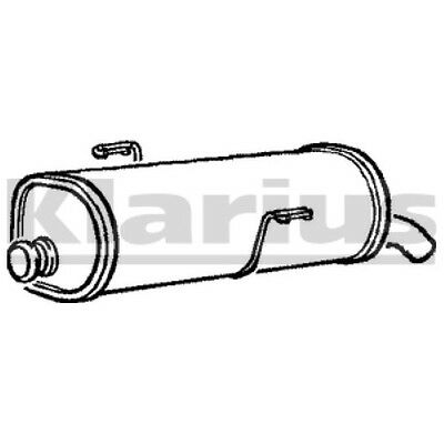 PEUGEOT 206 1.1i, 1.4i, 1.6i, 1.6 16V Hatchback 1998-2006 Exhaust Rear Silencer