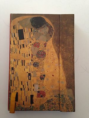 "Gustav Klimt ""The Kiss"" Small Unlined Journal with Magnetic Clasp"
