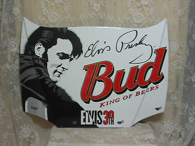 ELVIS 30TH BUDWEISER KING OF BEERS DALE EARNHARDT JR #8 MINI NASCAR HOOD 29X20