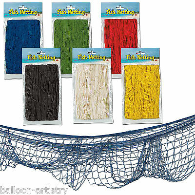 12ft x 4ft Tropical Hawaiian Summer Party Decorative Fish Fishing Net Netting