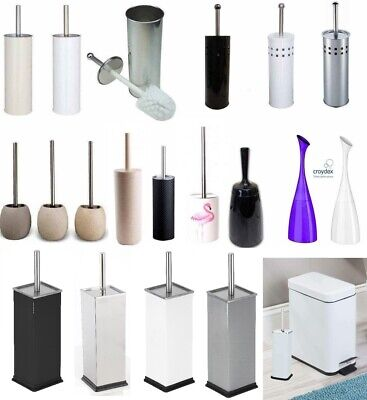 Stainless Steel Plastic Ceramic Toilet Brush And Holder Free Standing Bathroom