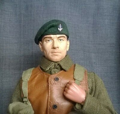 Banjoman 1:6 Scale Custom Made Beret - S.B.S. Dark Green With Patch