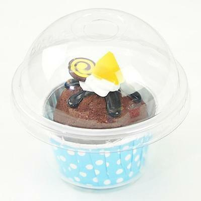 Cup a Cake Clear Pot with Dome Lid Muffin Container CupCake Plastic Carry Box Mi