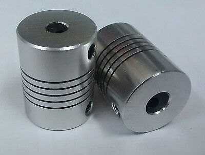 5x6.35mm Motor Shaft Coupler for 3D printer, Flexible 5mm to 6.35mm Z Axes, CNC