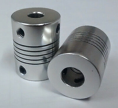 8x6.35mm Motor Shaft Coupler for 3D printer, Flexible 8mm to 6.35mm Z Axes, CNC
