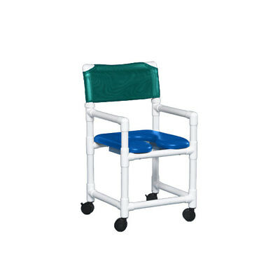 "Standard Soft Seat Shower Chair 20"" Clearance Blue Seat Teal   1 EA"