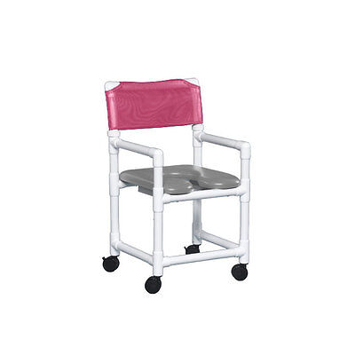 """Standard Soft Seat Shower Chair 20"""" Clearance Gray Seat Wineberry   1 EA"""