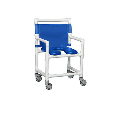 Standard Soft Seat Shower Commode 350 Lbs Blue Seat Blue       1 EA