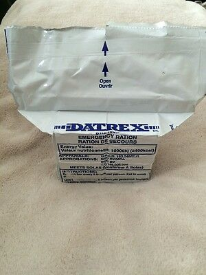 DATREX Emergency Food Bar Survival Rations 2400 Calories (12) Bars (1) Pack NEW!