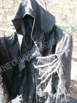 Grandinroad Halloween Scary Deluxe Standing Ghost Black Morphing  LED Eyes