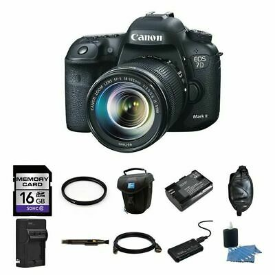 Canon EOS 7D Mark II DSLR Camera w/18-135mm Lens 16GB Complete Kit