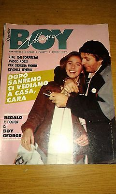 Corrier Boy Music #  6-Vasco Rossi-Sanremo-Contiene Poster Di Boy George-1984