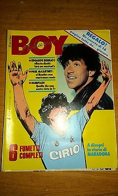 Corrier Boy Music # 35-6 Fumetti-Maradona -Bennato-Mccartney-Olimpiadi-1984