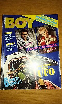 Corrier Boy Music # 43-6 Fumetti-Mark Hateley-Billy Idol-Eros Ramazzotti-1984