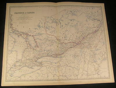 Province of Canada Ontario Lake Erie Norfolk c. 1862 fine antique hand color map