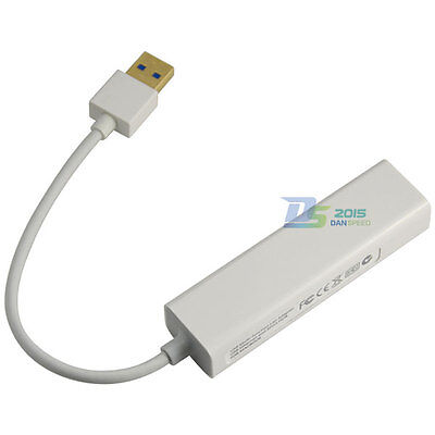 3 Port USB 3.0 10/100Mbps 2.0 HUB to RJ45 Lan Adapter For MacBook OS Win7/8 XP