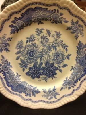 Spode Blue Room Collection Regency Series Jasmine' Collection Plate England