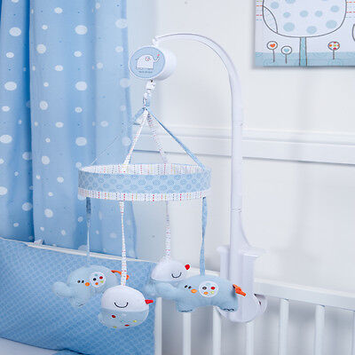 New Red Kite Blue Hello Ernest Musical Mobile To Fit Cots And Cot Beds