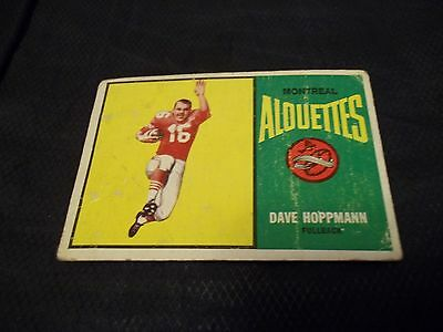 1964 Topps OPC CFL #41 Dave Hoppmann Rookie Montreal Alouettes - good