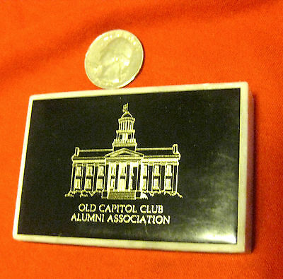 """VINTAGE 1980's UNIVERSITY OF IOWA """"OLD CAPITOL CLUB"""" MARBLE DESK PAPERWEIGHT!"""