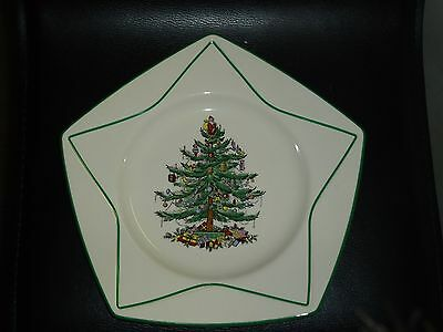 Spode Christmas Tree Star plate made in England