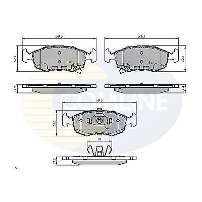 Comline Front Brake Pads Genuine OE Quality Service Replacement Set